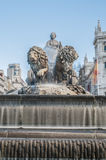 The fountain of Cibeles in Madrid, Spain. Stock Photos