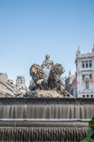 The fountain of Cibeles in Madrid, Spain. Royalty Free Stock Images
