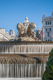 The fountain of Cibeles in Madrid, Spain. Royalty Free Stock Photo