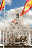 Fountain of Cibeles in Madrid Royalty Free Stock Photography