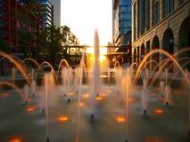 Fountain in city Royalty Free Stock Photos