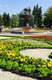 Fountain in the city arboretum-exhibition in Yekaterinburg Stock Photos