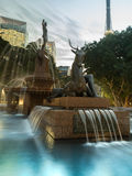 The fountain in city center at sydney Royalty Free Stock Photography