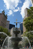 Fountain in City Hall Park Royalty Free Stock Image