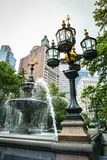 Fountain in the City Hall Park Manhattan New York City Stock Photography