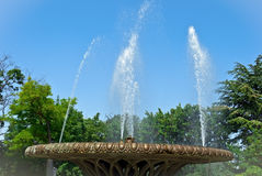 Fountain in a city park Royalty Free Stock Images