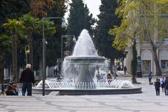 Fountain in city park, Baku Royalty Free Stock Photography