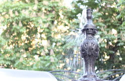 Fountain in city park Royalty Free Stock Images