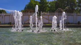 Fountain in the city park. stock footage