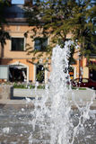 Fountain. City fountain in sunny day (Olkusz, Poland Stock Photos