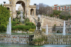 Fountain in Ciutadella park Royalty Free Stock Images