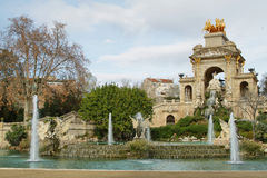 Fountain in Ciutadella park Stock Photography