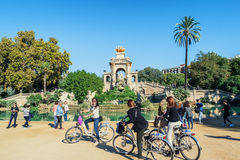 Fountain in Ciutadella Park in Barcelona Royalty Free Stock Images