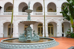 Fountain in classical colonial style, Singapore Royalty Free Stock Photography