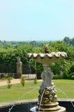 Fountain in classical  english garden Royalty Free Stock Photos