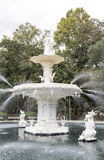 Fountain Closeup in Forsyth Park. Details of fountain in Forsyth Park in Savannah, Georgia royalty free stock image