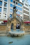 A fountain in Cologne Germany with a pretty view royalty free stock images
