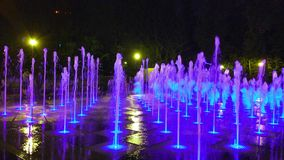 Fountain color. Singing fountain. stock photos