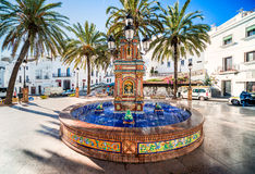 Fountain with colorful ceramic tiles Royalty Free Stock Photography