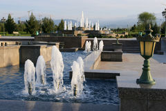 The fountain complex in Independence park. Ashkhabad. Turkmenistan Stock Photos