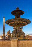 Fountain in the concorde square, Paris Royalty Free Stock Photo