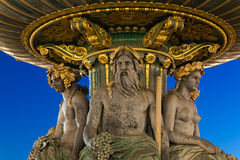 Fountain in the concorde square, Paris Stock Image