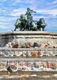 Fountain in Copenhagen royalty free stock photos