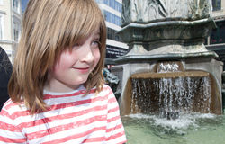 Fountain copenhagen Denmark stroget child Stock Photo