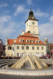 The fountain in Council Square, Brasov Royalty Free Stock Photos