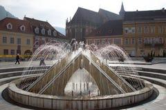 The fountain in Council Square, Brasov Stock Image