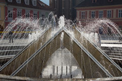 The fountain in Council Square, Brasov Royalty Free Stock Images