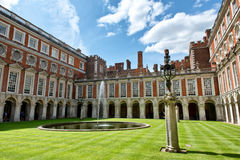 Fountain Court at Hampton Court Palace near London Stock Photography