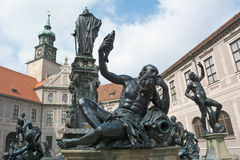 Fountain Court at the Munich Residence. Monuments in the Fountain Court at the Munich Residence Stock Photography