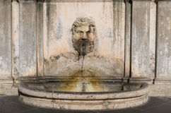 Fountain In The Courtyard Of The Vatican Museums Stock Images