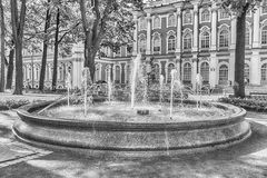 Fountain in the courtyard of Winter Palace, St. Petersburg, Russ Royalty Free Stock Photo