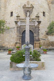 Fountain and cross. Stock Image
