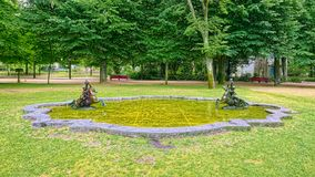 Fountain in Crystal Palace Gardens of Porto, Portugal stock images