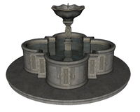 Fountain -3D render Royalty Free Stock Images