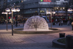 Fountain Dandelion in the square at National Theatre Stock Photo