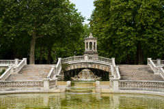 Fountain of Darcy park in Dijon Stock Photo