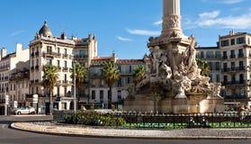 Fountain de Cantini am Platz Castellane in Marseille Lizenzfreies Stockbild