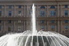 Fountain in De Ferrari square, Stock Photography
