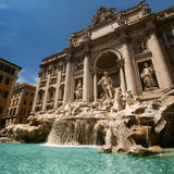 Fountain de Trevi in Italy Stock Photos