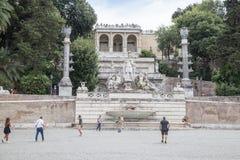Fountain of Dea di Roma in Roma, Italy Royalty Free Stock Photo