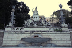 Fountain of Dea di Roma in Roma, Italy Royalty Free Stock Image