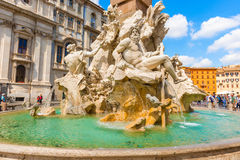 Fountain dei Fiumi in Rome, Italy Stock Photography