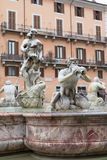 Fountain del Moro on Navona Square in Rome Royalty Free Stock Photo