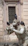 Fountain del Moro op vierkante Navone in Rome royalty-vrije stock afbeeldingen
