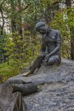The fountain depicts Perttu from the fable of Lafontaine Milkmaid- or-a-jug-of-milk. Russia, Tsarskoye Selo 17,10,2018 The fountain depicts Perttu from the royalty free stock photo