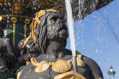 Fountain des Mers, Concorde square, Paris Stock Photography